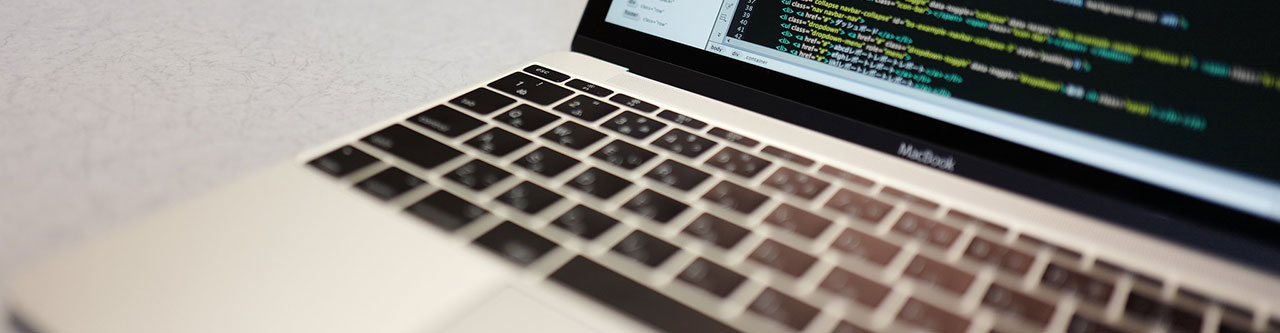 Keyboard and laptop image.